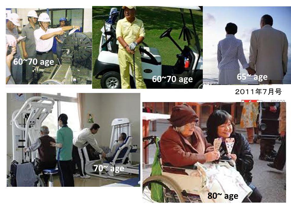 60~70 age 65~ age 70~ age 80~ age