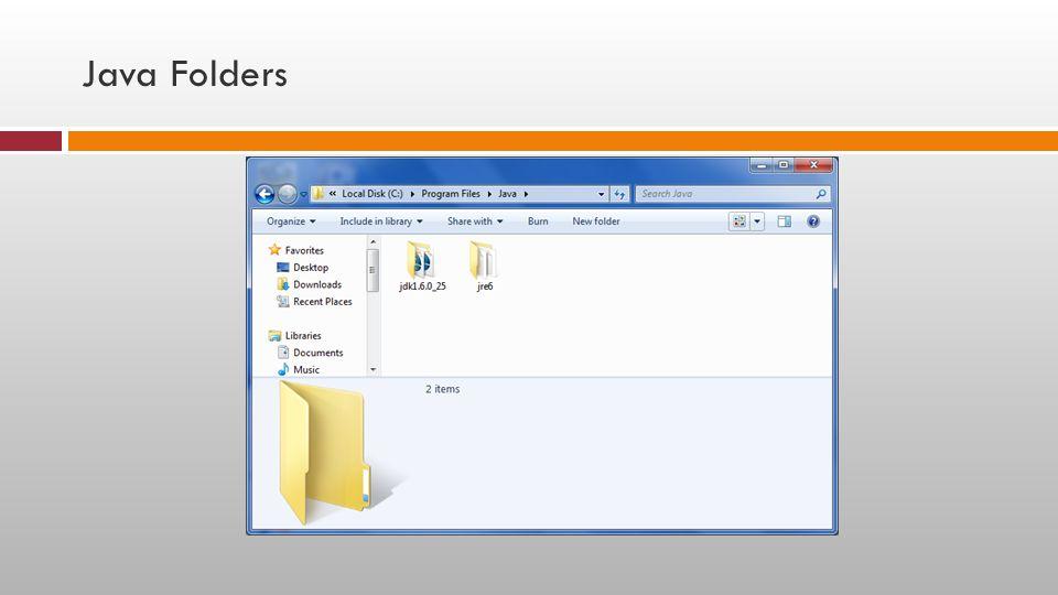 Java Folders