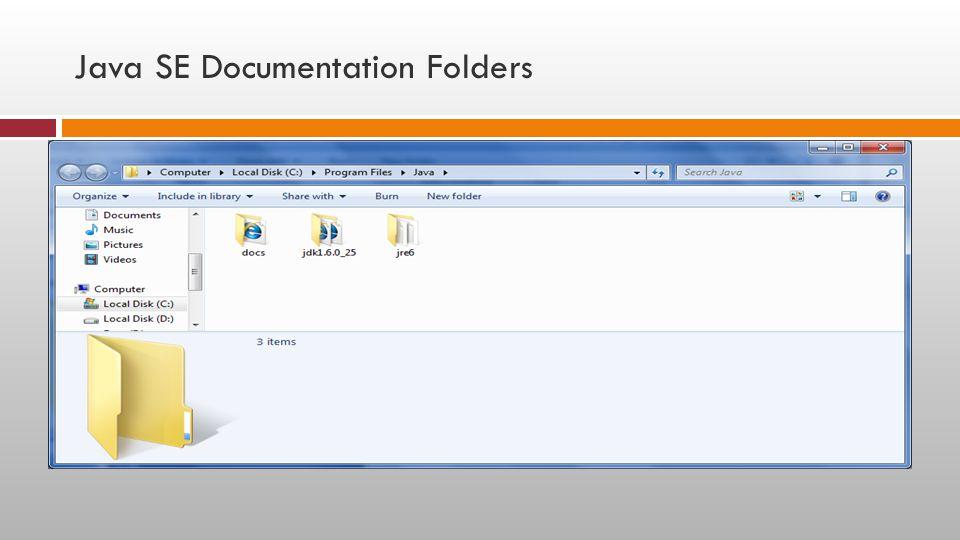 Java SE Documentation Folders