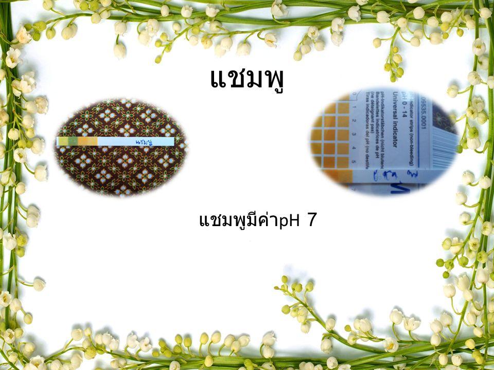แชมพู แชมพูมีค่า pH 7