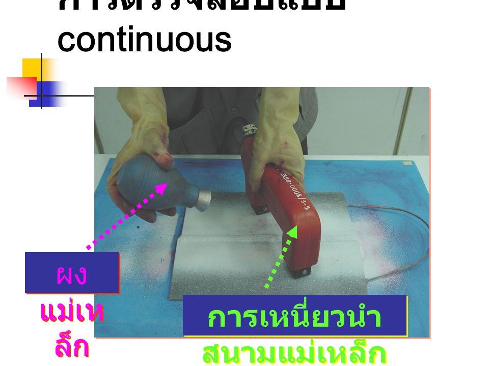 การตรวจสอบแบบ continuous ผง แม่เห ล็ก การเหนี่ยวนำ สนามแม่เหล็ก