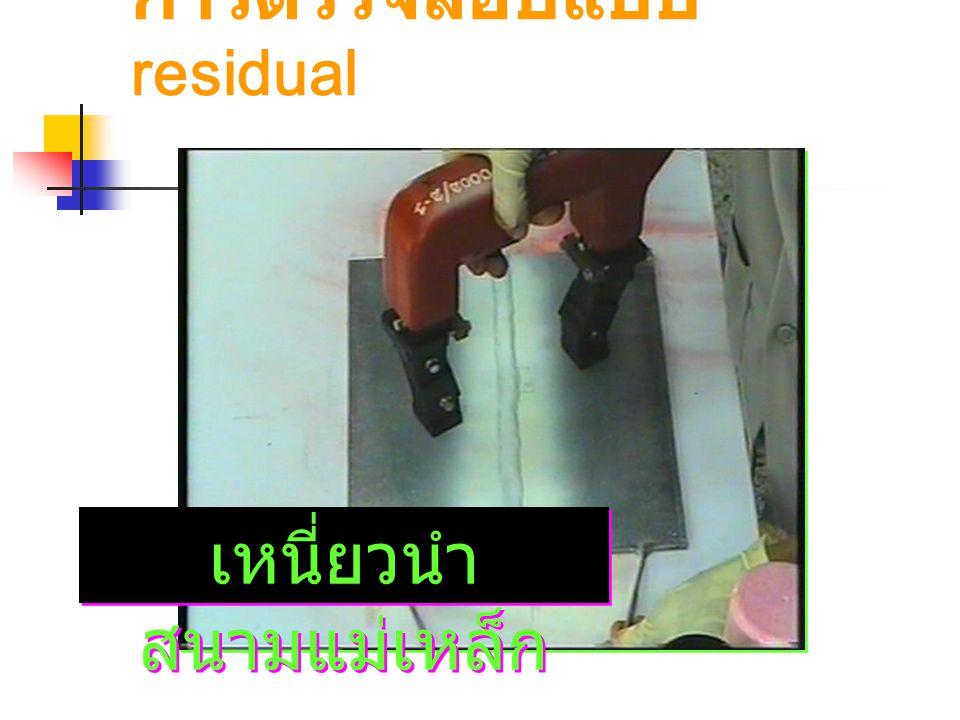 การตรวจสอบแบบ residual เหนี่ยวนำ สนามแม่เหล็ก