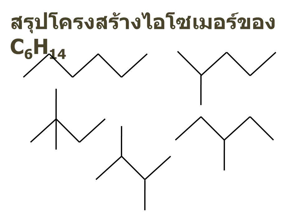 สรุปโครงสร้างไอโซเมอร์ของ C 6 H 14