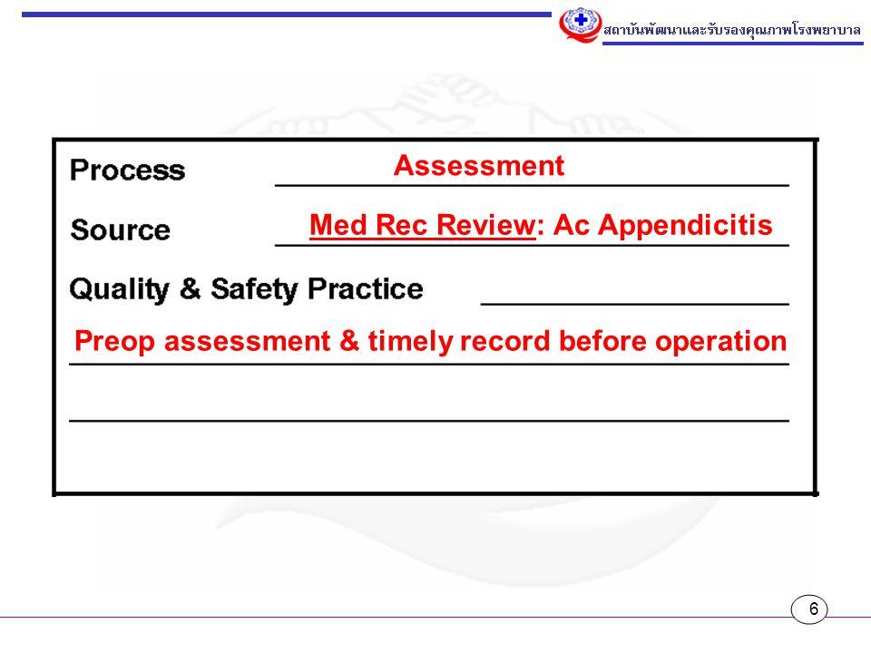 17 ทั้งหมดที่กล่าวมา สามารถได้คำตอบด้วย การปรับมุมมองของเราต่อ Patient Safety Goals โดยการมองว่านี่คือชุดขององค์ ความรู้ที่จะเป็นแนวทางเพื่อการพัฒนา ระบบงานของเราให้มีความปลอดภัยมาก ยิ่งขึ้น คำว่า Goals อาจจะเป็นสิ่งที่สร้าง ความกดดันให้กับเรา ถ้าเป็นดังนั้นควรจะ มองว่าเป็น Guide แล้วก็ใช้หลักลงไปดู ของจริงในพื้นที่ว่าเรามีโอกาสยกระดับความ ปลอดภัยในการดูแลผู้ป่วยได้อย่างไร การ ตามรอยโดยใช้ประเด็นต่างๆ ใน SIMPLE จึงเป็นสิ่งที่สมควรทำอย่างยิ่ง ไม่ว่าเราจะ กำหนดประเด็นเหล่านั้นเป็น Patient Safety Goals หรือไม่