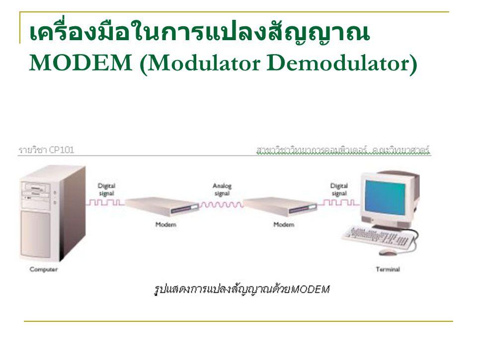 เครื่องมือในการแปลงสัญญาณ MODEM (Modulator Demodulator)