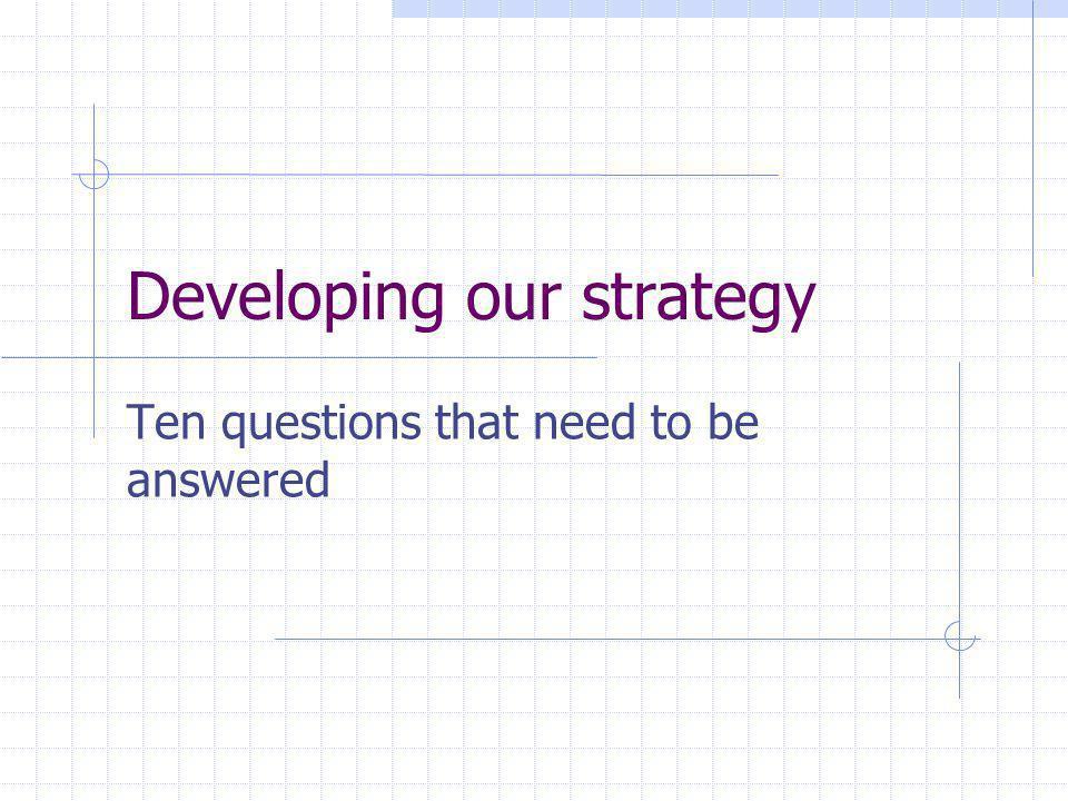 Steps to be taken Analysis Targeting Tactics