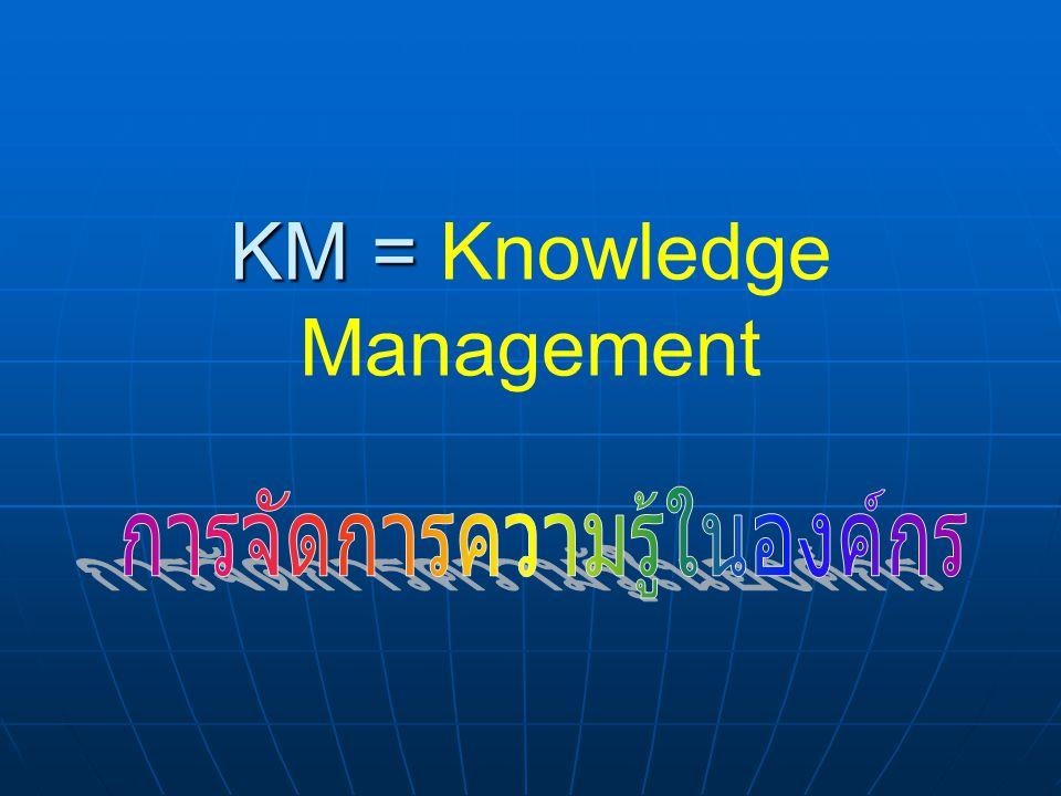 KM = KM = Knowledge Management