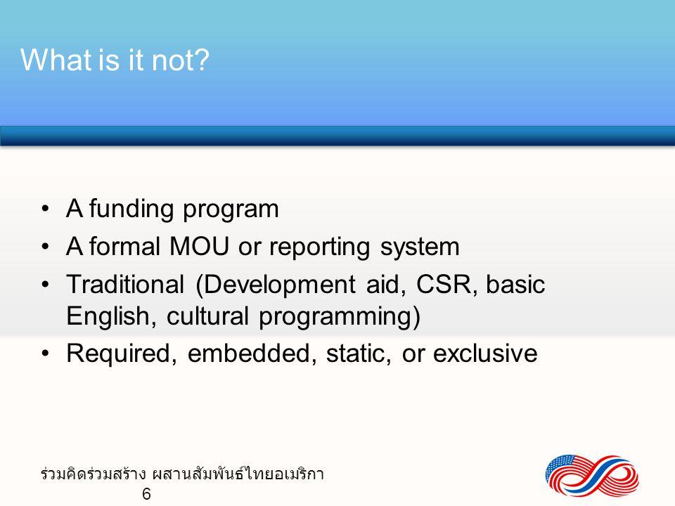 ร่วมคิดร่วมสร้าง ผสานสัมพันธ์ไทยอเมริกา 7 Thai-U.S.
