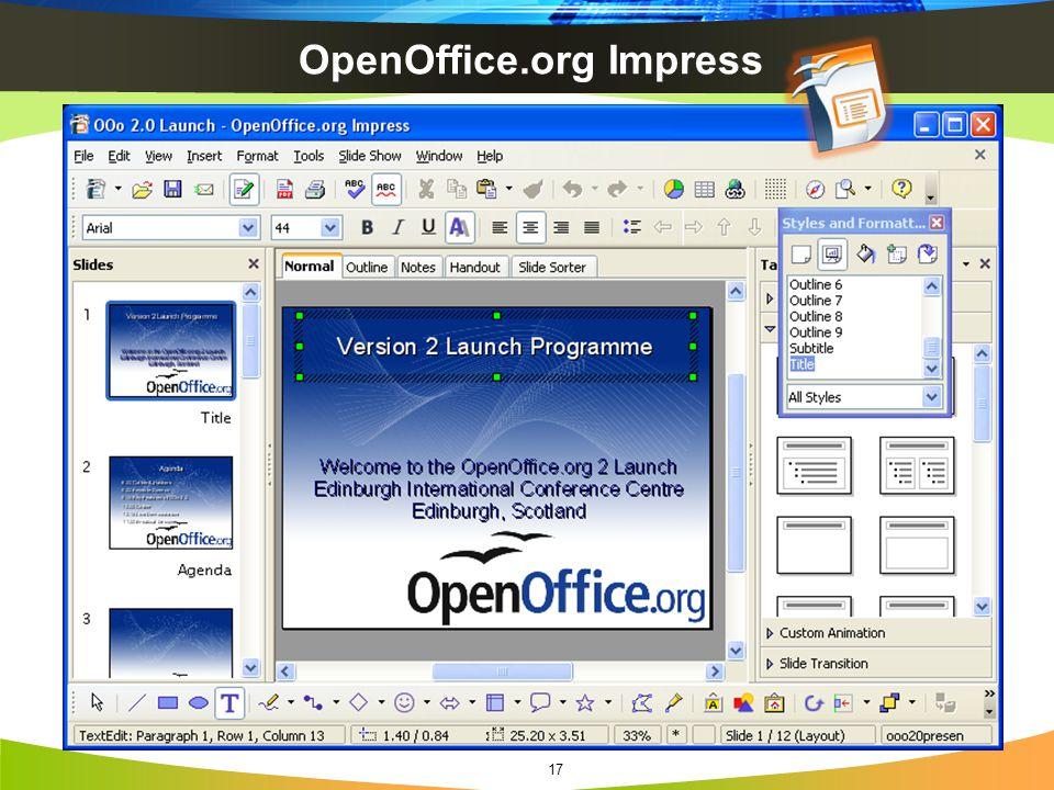 OpenOffice.org Impress 17