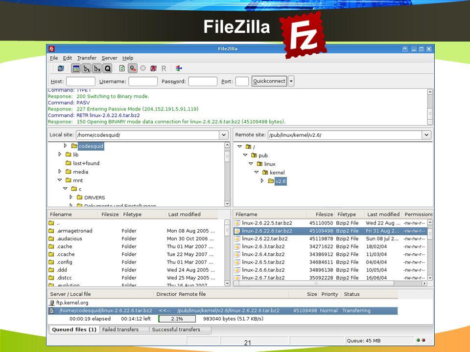 FileZilla 21