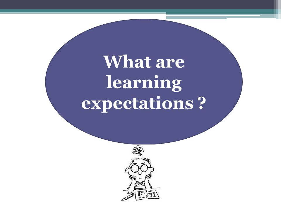 What are learning expectations ?
