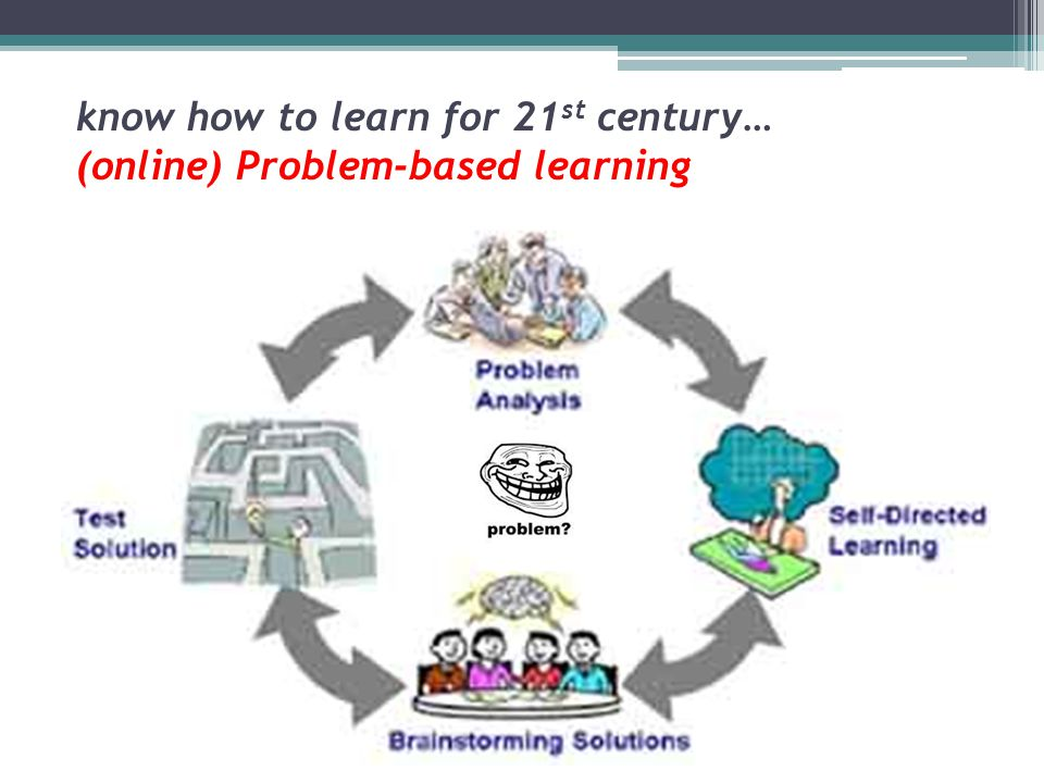 know how to learn for 21 st century… (online) Problem-based learning