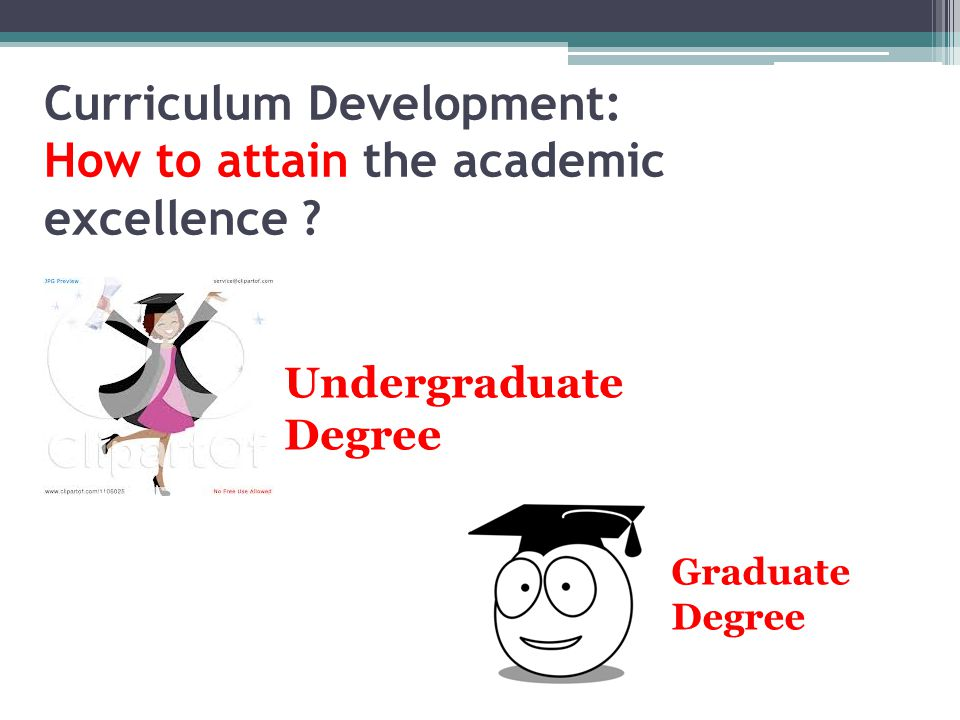 Curriculum Development: How to attain the academic excellence .