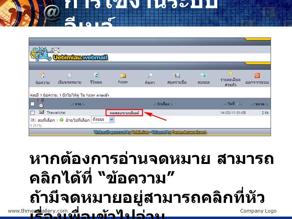 www.thmemgallery.comCompany Logo การเข้าระบบผู้ดูแลเว็บ การใช้งานระบบเว็บไซต์ แต่ละท่านจะมีเว็บไซต์ แตกต่างกันไป โดยจะอยู่ ในรูปแบบ http://blog.nachuakpi t.ac.th/ ชื่อผู้ใช้ เช่น http://blog.nachuakpi t.ac.th/thawatchai ซึ่ง เริ่มแรกจะมีหน้าเว็บ เหมือนกันหมด