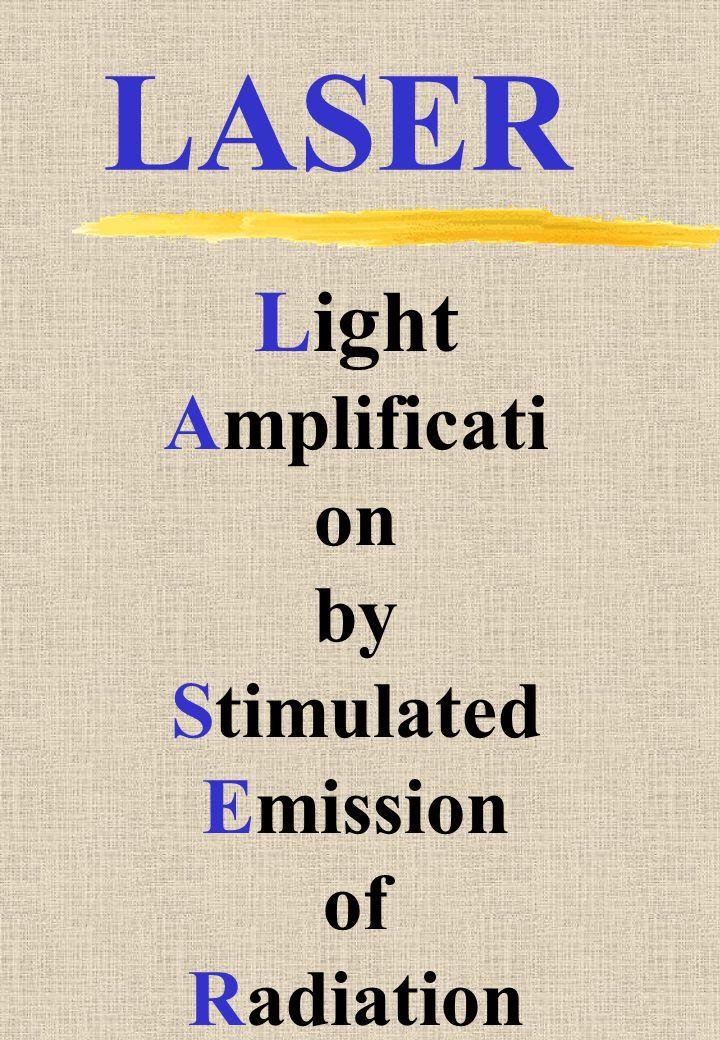 Light Amplificati on by Stimulated Emission of Radiation LASER