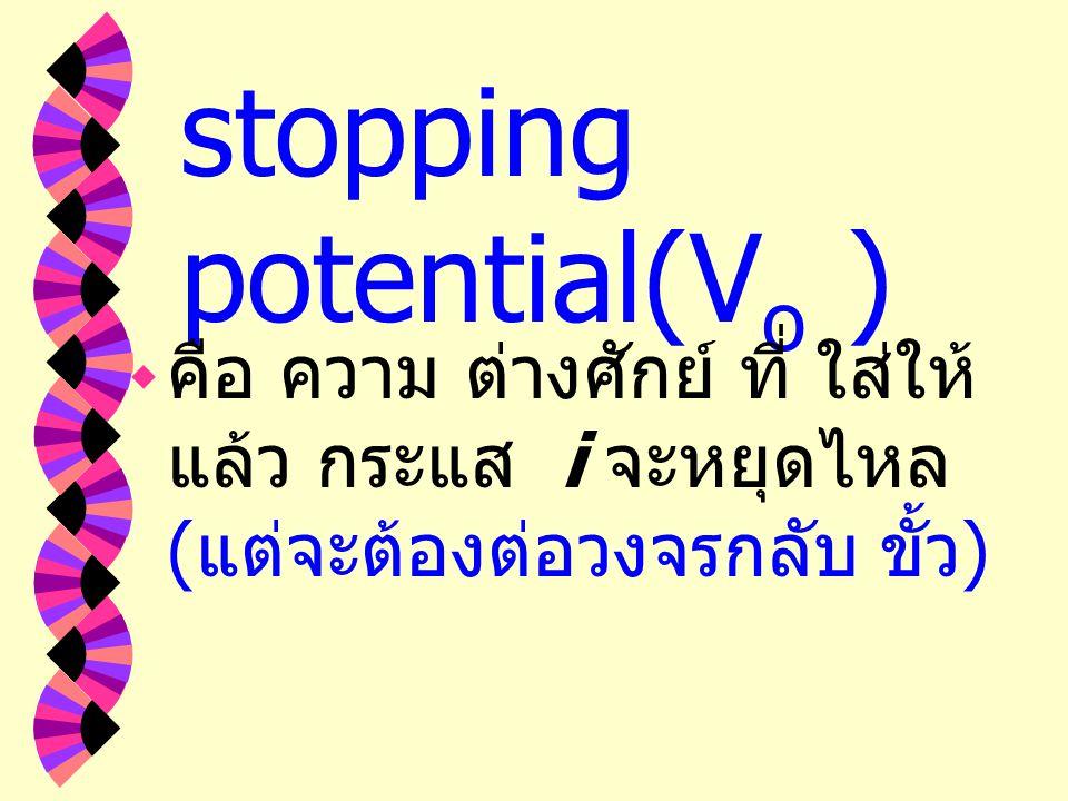 พลังงานจลน์ที่ ของอิเล็กตรอน work function ใน การปลดปล่อย อิเล็กตรอน