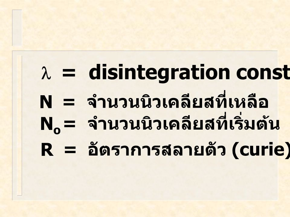 - สมการการสลายตัวของสารกัมมันตรังสี (1)