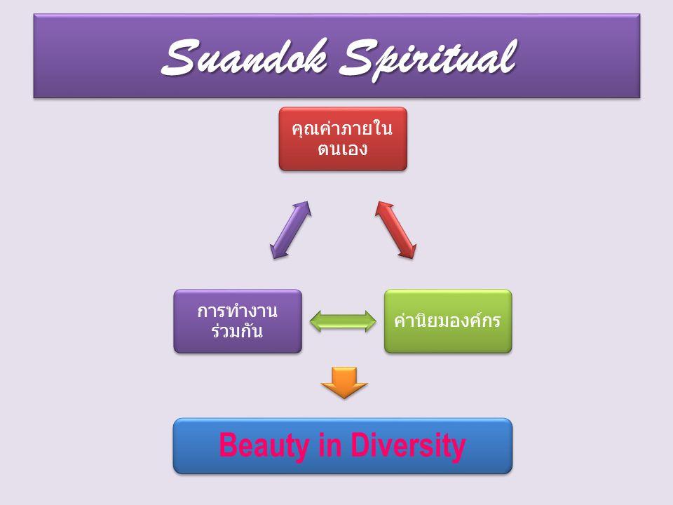 Suandok Spiritual คุณค่าภายใน ตนเอง ค่านิยมองค์กร การทำงาน ร่วมกัน Beauty in Diversity