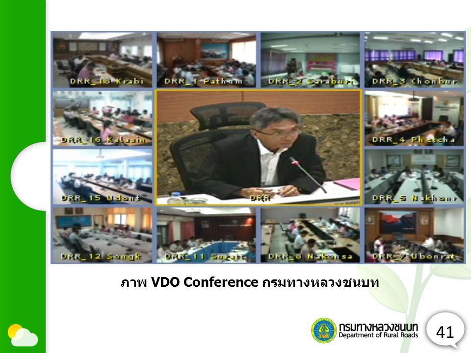 41 ภาพ VDO Conference กรมทางหลวงชนบท