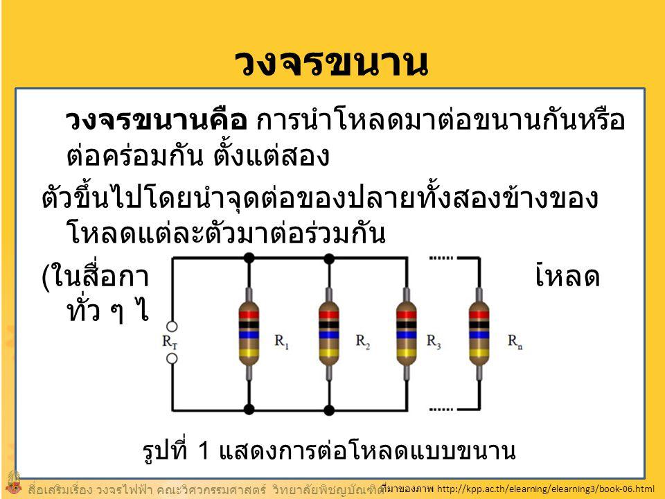 วัตถุประสงค์ของการเรียน 1.เพื่อให้ผู้เรียนสามารถอธิบายความหมายของ วงจรไฟฟ้าแบบขนานได้ 2.
