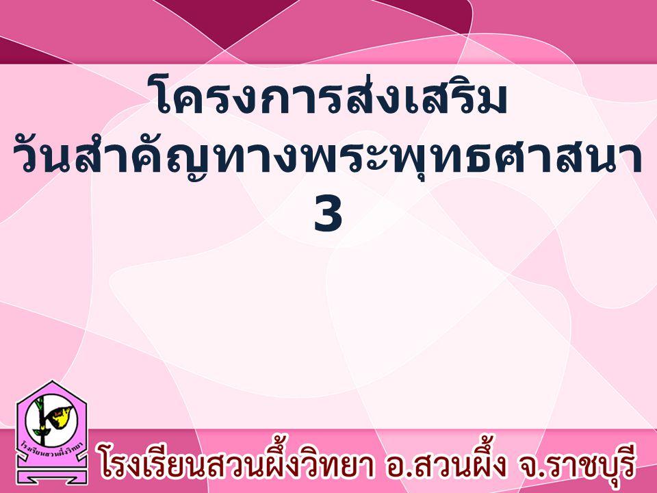 โครงการส่งเสริม วันสำคัญทางพระพุทธศาสนา 3