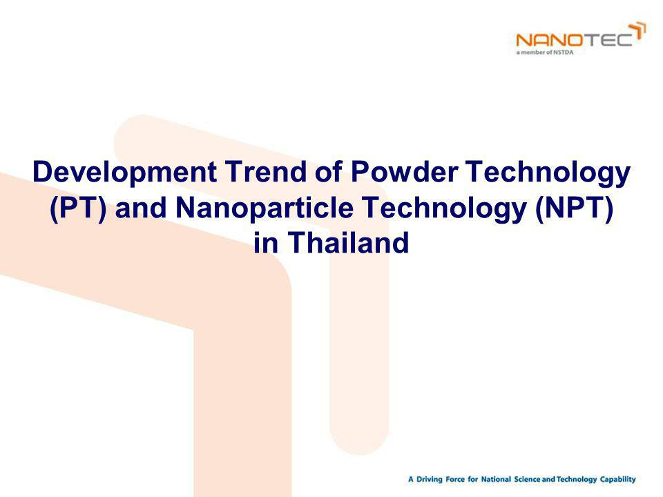 Development Trend of Powder Technology (PT) and Nanoparticle Technology (NPT) in Thailand