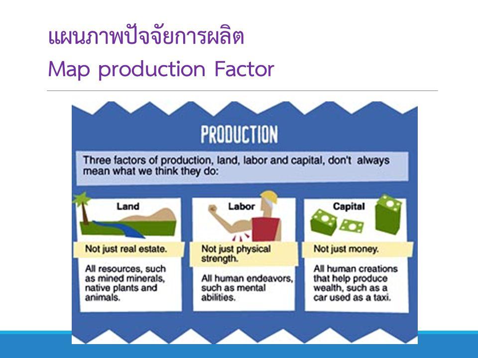แผนภาพปัจจัยการผลิต Map production Factor