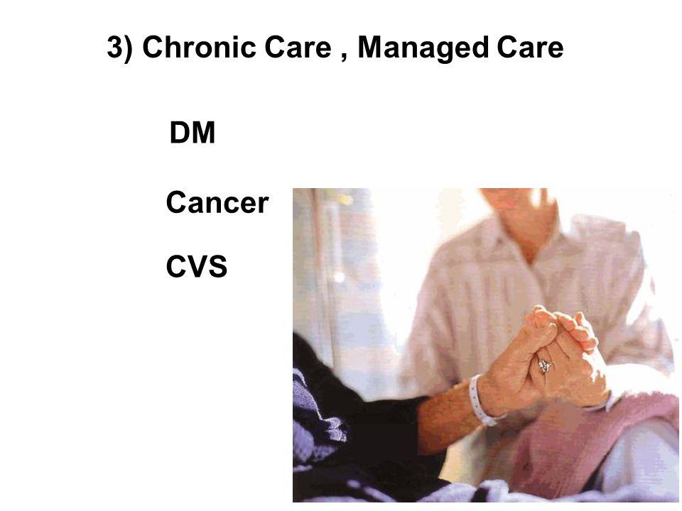 3) Chronic Care, Managed Care DM Cancer CVS