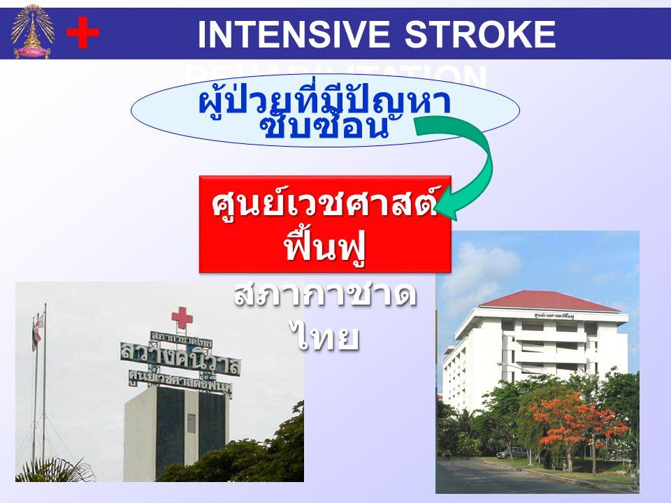INTENSIVE STROKE REHABILITATION ผู้ป่วยที่มีปัญหา ซับซ้อน ศูนย์เวชศาสต์ ฟื้นฟู สภากาชาด ไทย ศูนย์เวชศาสต์ ฟื้นฟู สภากาชาด ไทย