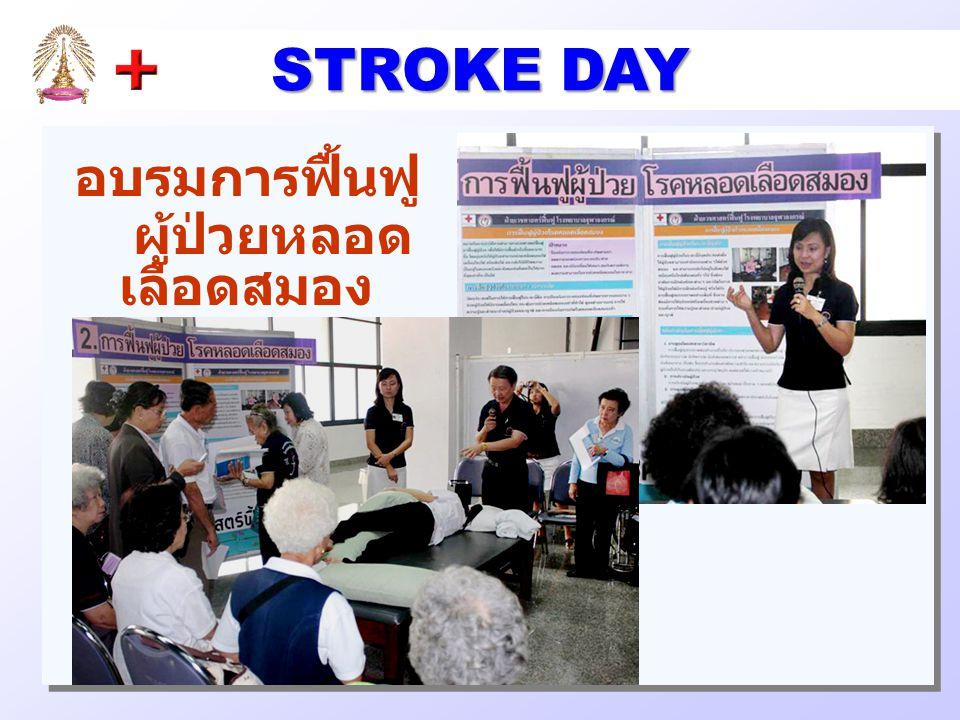 อบรมการฟื้นฟู ผู้ป่วยหลอด เลือดสมอง STROKE DAY