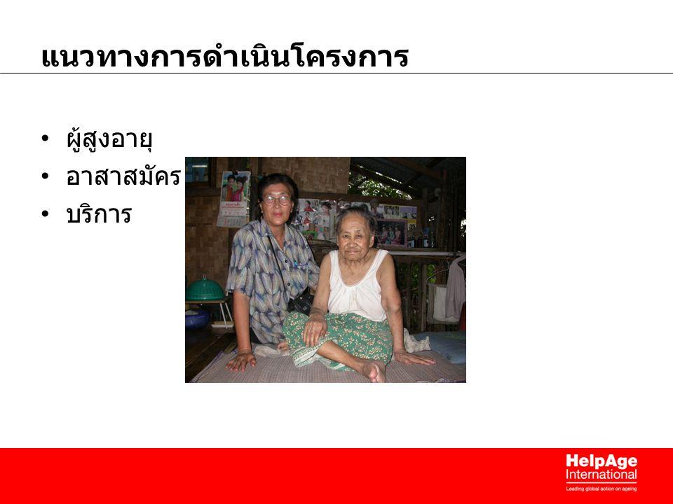 แนวทางการดำเนินโครงการ ผู้สูงอายุ อาสาสมัคร บริการ