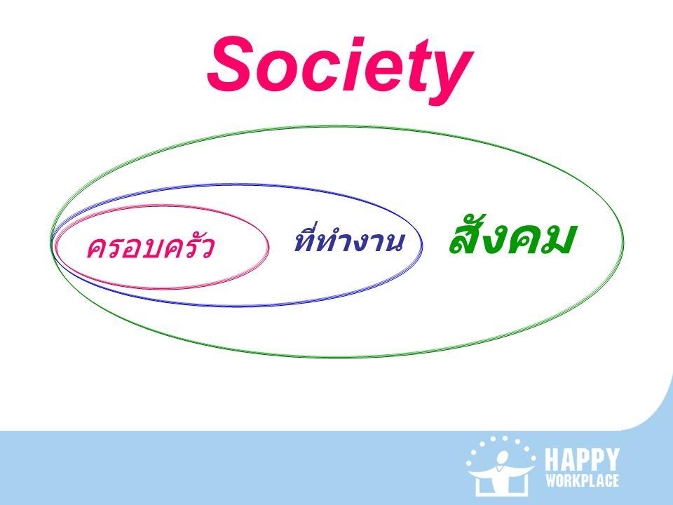 Society ครอบครัว ที่ทำงาน สังคม
