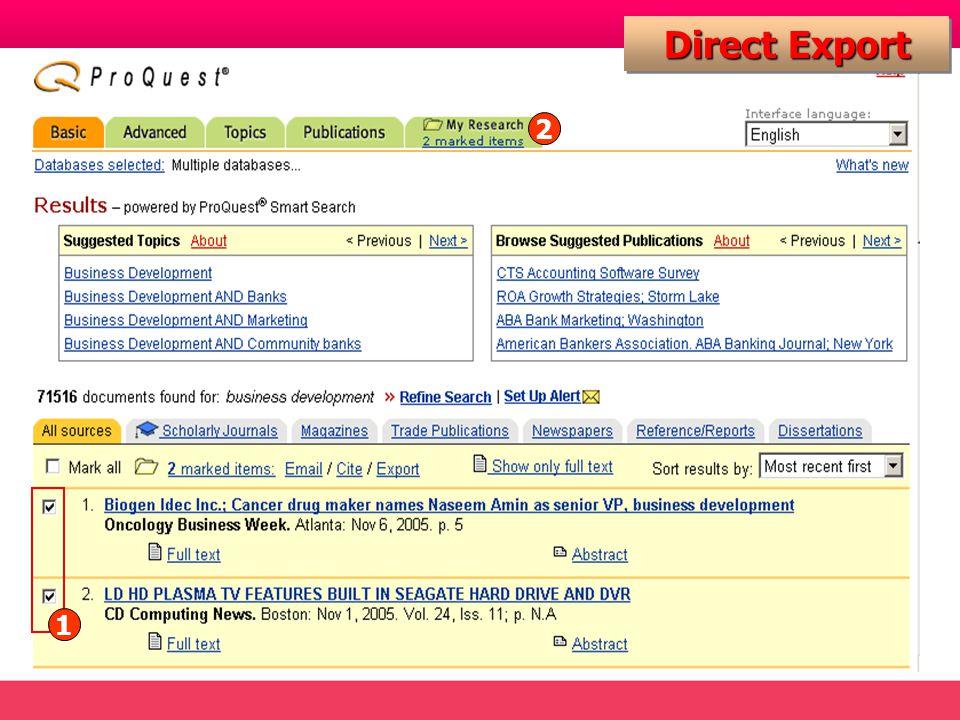 Direct Export 1 2