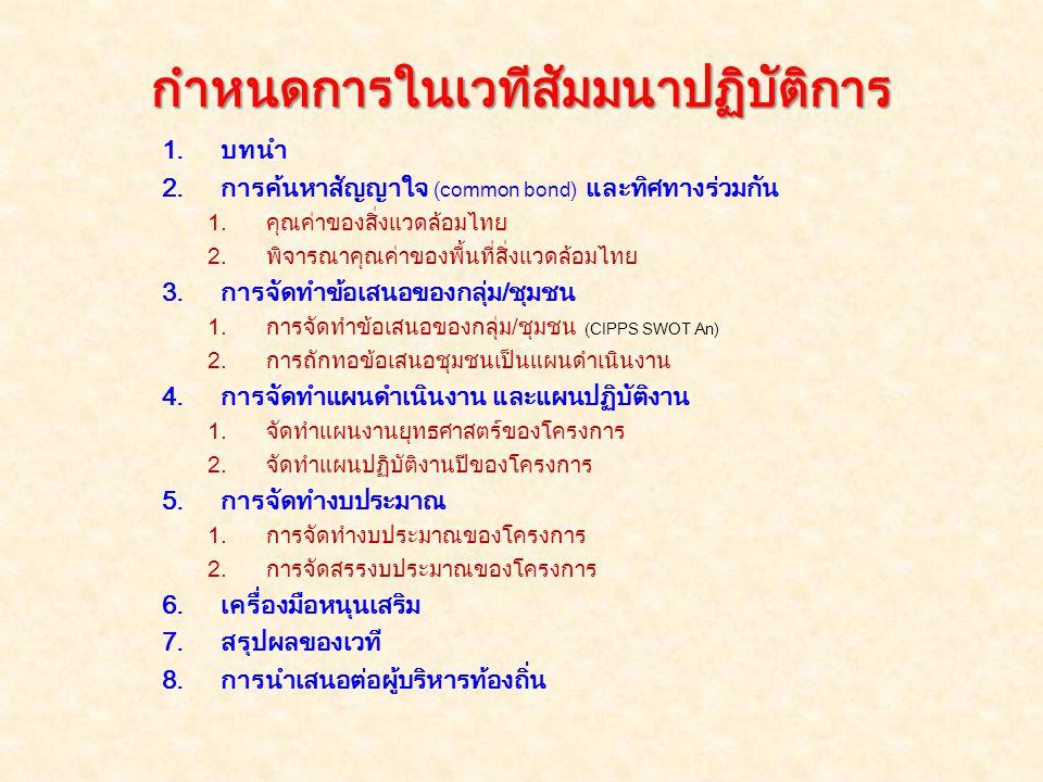 1) การค้นหาสัญญาใจ ข้อที่ 1 อะไรคือ คุณค่าของ พื้นที่ป่าไม้ และป่าต้นน้ำไทย .