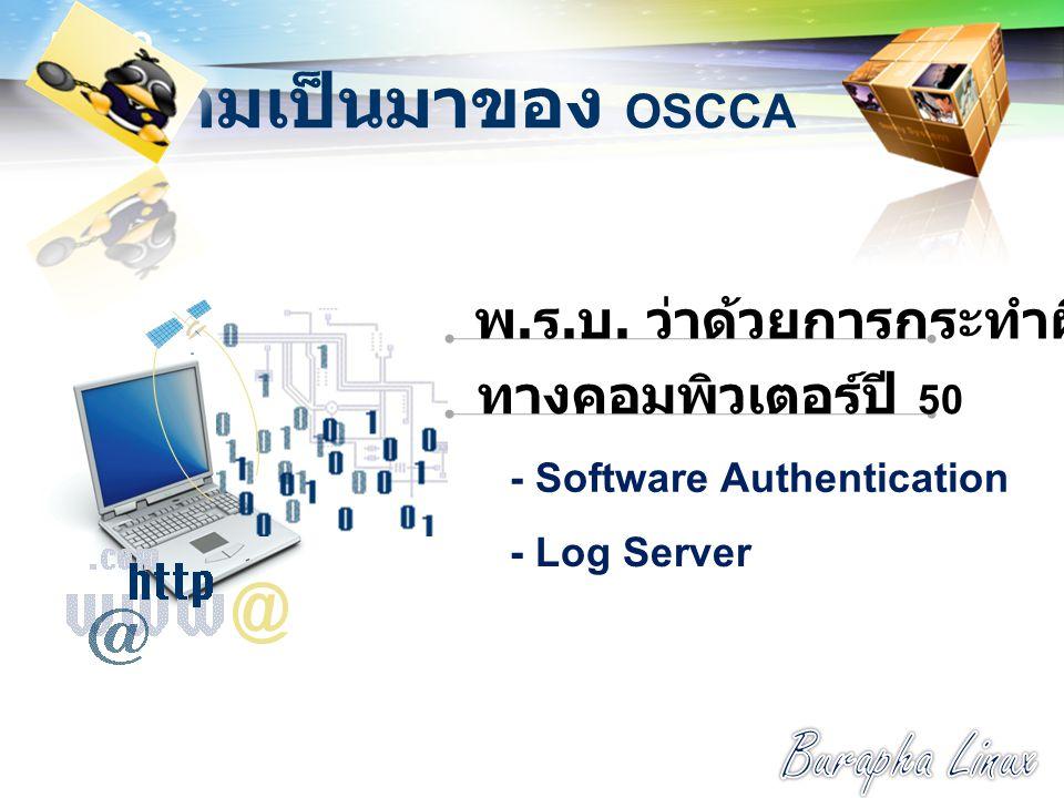 LOGO ความเป็นมาของ OSCCA พ.ร. บ.