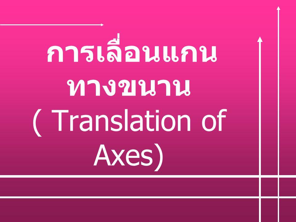 การเลื่อนแกน ทางขนาน ( Translation of Axes)