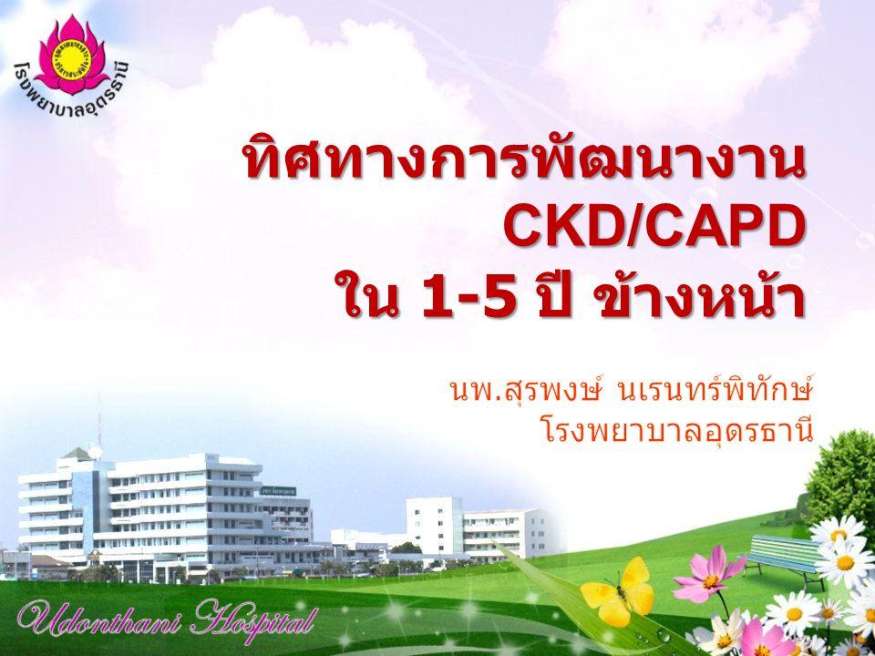 ทิศทางการพัฒนางาน CKD/CAPD ใน 1-5 ปี ข้างหน้า