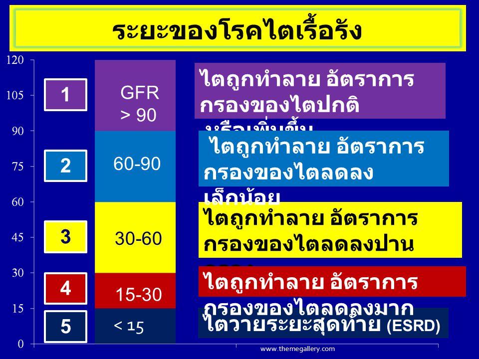 อุบัติการณ์โรคไตเรื้อรังในประเทศ ไทย CKD Prevalence in Thailand Anutra et al.