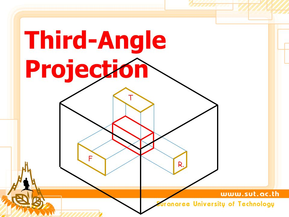 Third-Angle Projection F R. T
