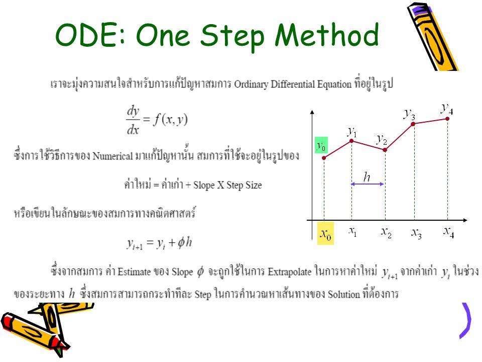 ODE: One Step Method