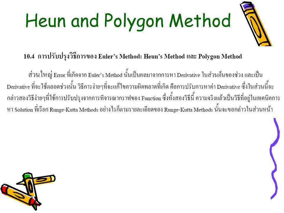 Heun and Polygon Method