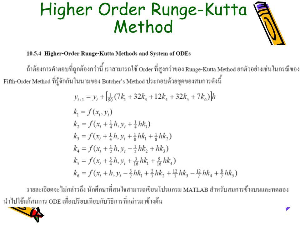 Higher Order Runge-Kutta Method