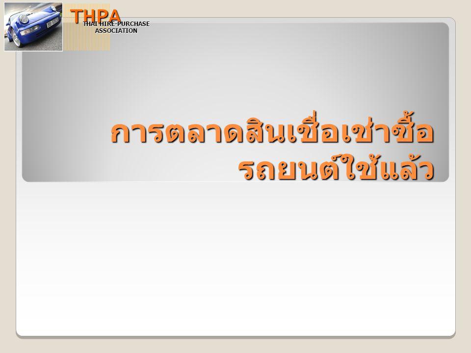 การตลาดสินเชื่อเช่าซื้อ รถยนต์ใช้แล้ว THPA THAI HIRE-PURCHASE ASSOCIATION