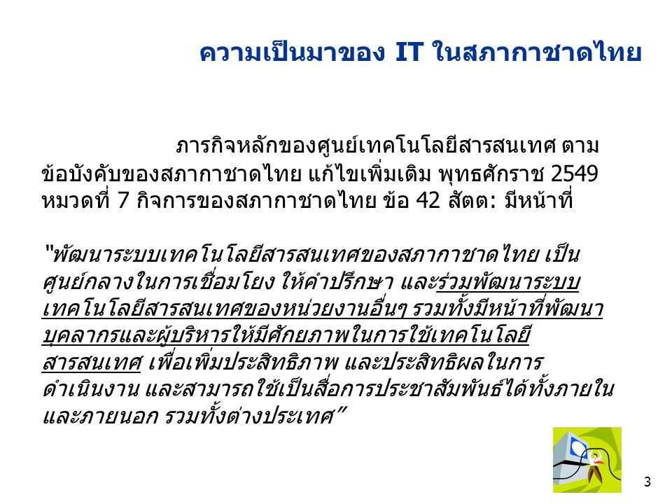 24 ความก้าวหน้าการพัฒนาระบบ ICT สนับสนุน หน่วยงานในสภากาชาดไทย ยุทธศาสตร์ที่ 1,2,3,4,5 1.