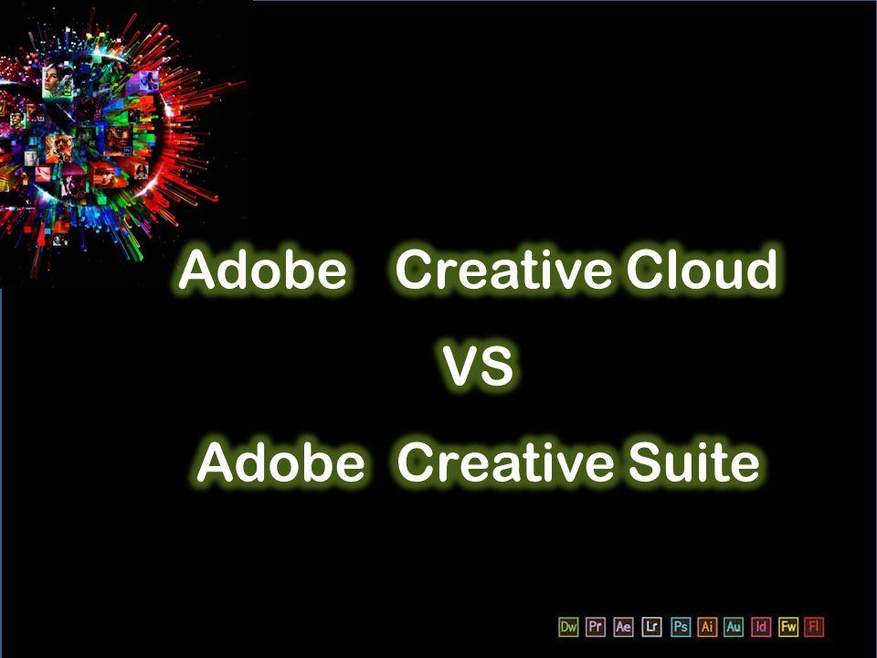 Adobe Creative Cloud จะแบ่งกลุ่มทำงานแต่ละ ด้าน ได้อย่างชัดเจน เพื่อการทำงานที่ตรงกับงาน แต่ละด้าน ซึ่งจะแบ่งออกเป็น 1.