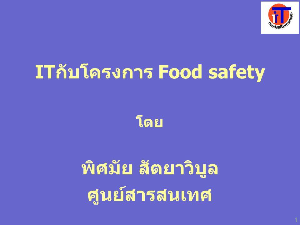 1 ITกับโครงการ Food safety โดย พิศมัย สัตยาวิบูล ศูนย์สารสนเทศ