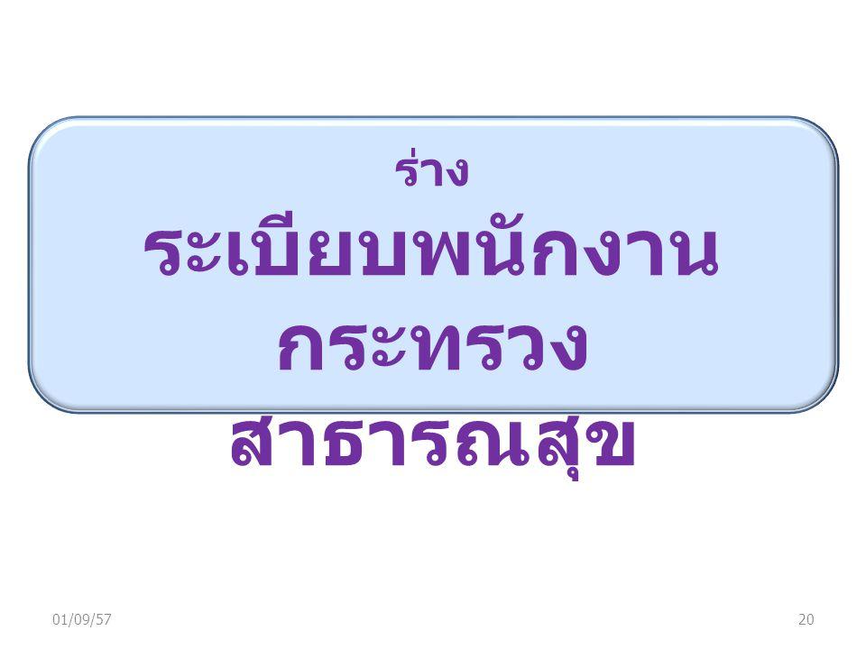 01/09/5720 ร่าง ระเบียบพนักงาน กระทรวง สาธารณสุข
