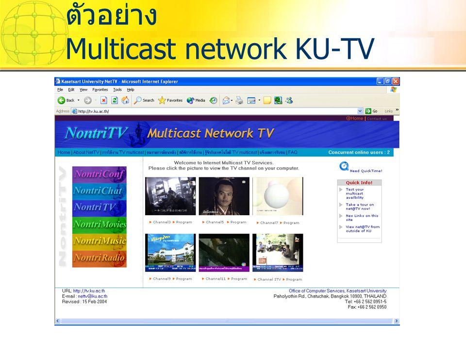 ตัวอย่าง Multicast network KU-TV