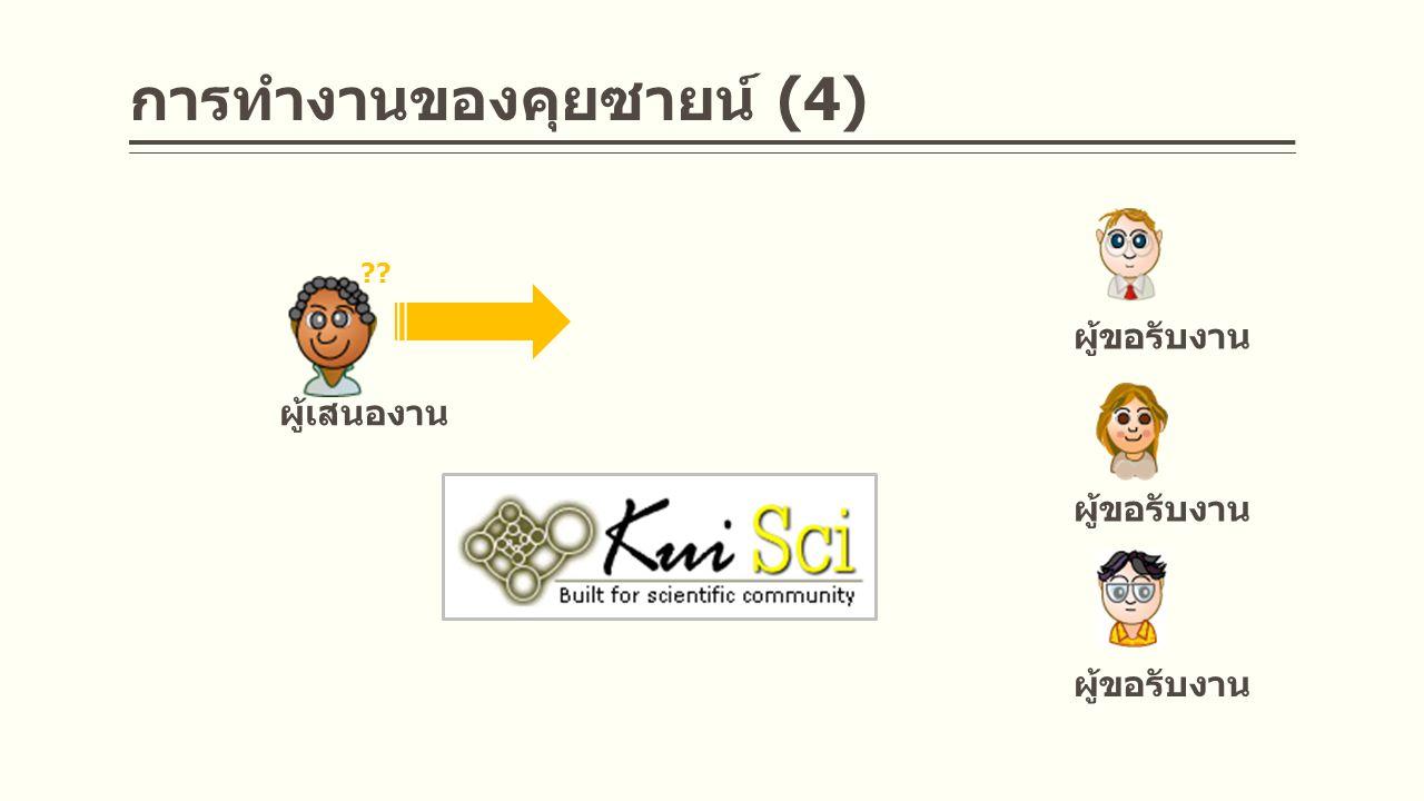 ผู้เสนองาน ผู้ขอรับงาน การทำงานของคุยซายน์ (4)