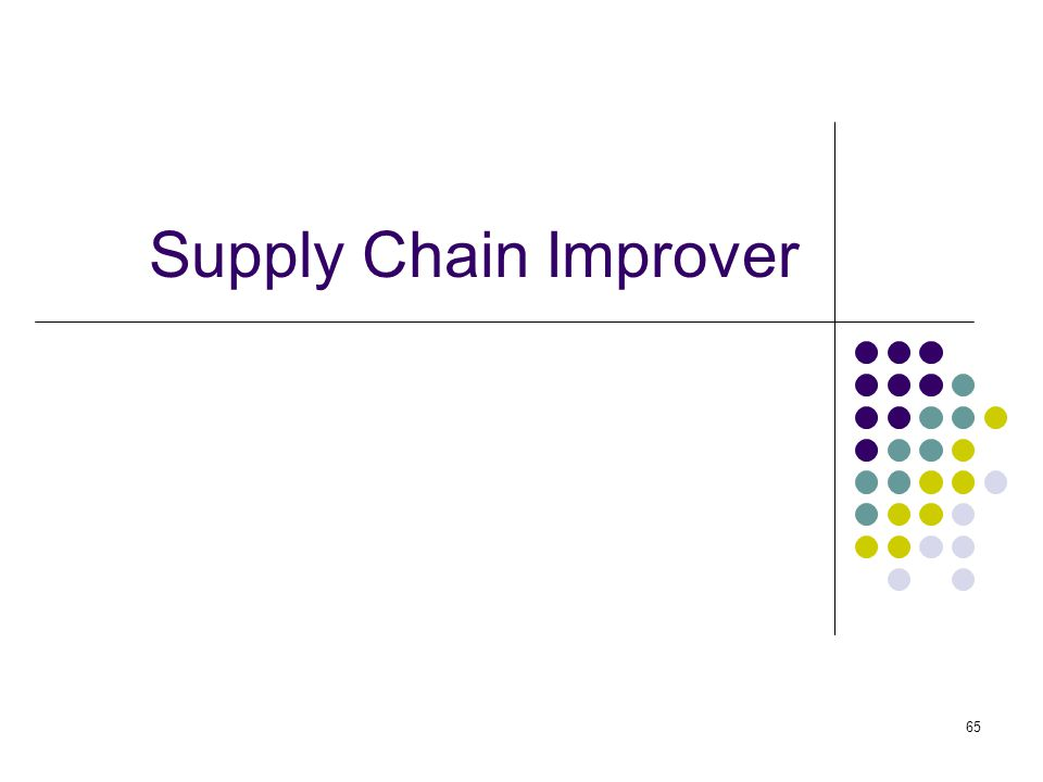 65 Supply Chain Improver